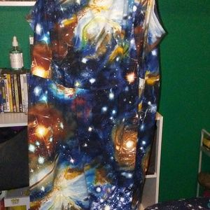 Heart and Solar System A Line Dress